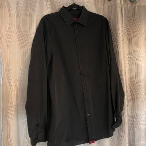 Grey w black lines Alfani fitted men's button down